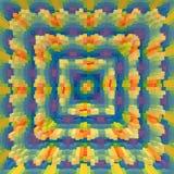 3d de kubus drijft symmetrieachtergrond, achtergrondillustratie uit stock illustratie