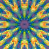 3d de kubus drijft symmetrieachtergrond, eenvoudige uit achtergrond royalty-vrije illustratie