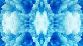 3d de kubus drijft symmetrieachtergrond, eenvoudige uit textuur stock illustratie