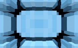 3d de kubus drijft symmetrieachtergrond, grafisch ornament uit vector illustratie