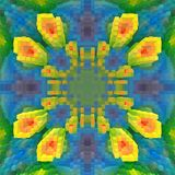 3d de kubus drijft symmetrieachtergrond, grafische uit achtergrond vector illustratie