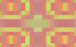 3d de kubus drijft symmetrieachtergrond, meetkundevorm uit vector illustratie
