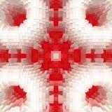 3d de kubus drijft symmetrieachtergrond, naadloze samenvatting uit royalty-vrije illustratie