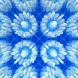 3d de kubus drijft symmetrieachtergrond, naadloze vorm uit vector illustratie