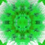 3d de kubus drijft symmetrieachtergrond, ontwerpmeetkunde uit vector illustratie