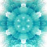 3d de kubus drijft symmetrieachtergrond, ontwerpornament uit royalty-vrije illustratie