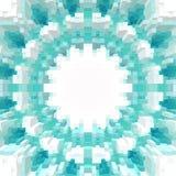 3d de kubus drijft symmetrieachtergrond, textuurillustratie uit stock illustratie