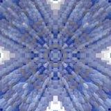 3d de kubus drijft symmetrieachtergrond uit, geeft de herhaling terug royalty-vrije illustratie