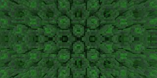 3d de kubus drijft symmetrieachtergrond uit, geeft de meetkunde terug stock illustratie