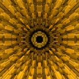 3d de kubus drijft symmetrieachtergrond uit, geeft de vorm terug royalty-vrije illustratie