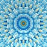 3d de kubus drijft symmetrieachtergrond uit, herhaalt het ontwerp vector illustratie