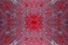 3d de kubus drijft symmetrieachtergrond uit, herhaalt illustratie vector illustratie