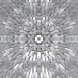 3d de kubus drijft symmetrieachtergrond uit, herhaalt vector illustratie