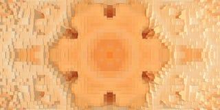 3d de kubus drijft symmetrieachtergrond uit, herhaalt de textuur vector illustratie