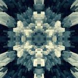 3d de kubus drijft symmetrieachtergrond uit, teruggeeft eenvoudig stock illustratie
