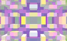 3d de kubus drijft symmetrieachtergrond, uitgedreven eenvoudig uit stock illustratie