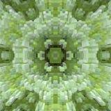3d de kubus drijft symmetrieachtergrond, uitgedreven geometrisch uit vector illustratie