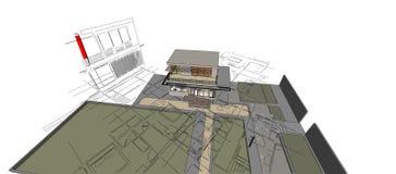 3D de la construcción hermoso Imagen de archivo