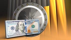 3d de la puerta del valut Imagen de archivo