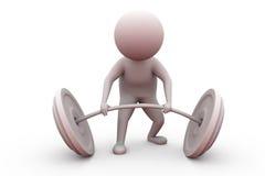 3d de liftconcept van het mensengewicht Stock Foto