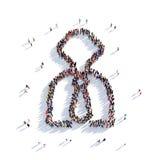 3d de mensen van de mensenmanager vector illustratie
