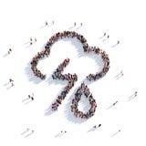 3d de mensen van het wolkenweer Stock Afbeeldingen