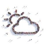 3d de mensen van het wolkenweer Royalty-vrije Stock Foto's