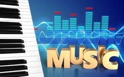 3d de muziekteken van het muziekteken Stock Foto's