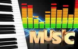 3d de muziekteken van het muziekteken Stock Afbeeldingen