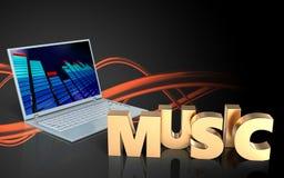 3d de muziekteken van het muziekteken Royalty-vrije Stock Fotografie