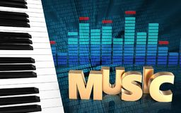 3d de muziekteken van het muziekteken vector illustratie