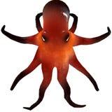 3d de octopus geeft terug Stock Foto