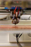 3D de Oppervlakteverrichting Jet Equipment van Printertip reflective table Stock Foto's