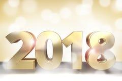 2018 3d de oro rinden el sylvester 2018 ilustración del vector