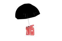 3d de parapluconcept van 2015 Stock Afbeeldingen