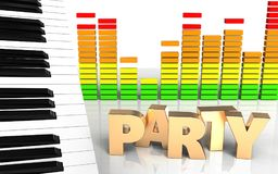 3d de partijteken van het partijteken royalty-vrije illustratie