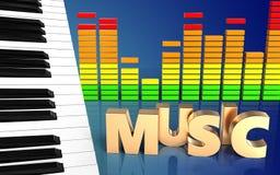 3d de pianosleutels van pianosleutels Royalty-vrije Stock Afbeelding