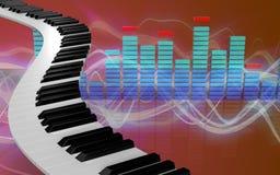 3d de pianosleutels van pianosleutels vector illustratie