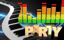 3d de pianosleutels van pianosleutels stock illustratie