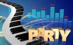 3d de pianosleutels van pianosleutels Stock Foto's