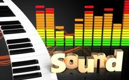 3d de pianotoetsenbord van het pianotoetsenbord vector illustratie