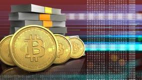 3d de pile d'argent Image libre de droits