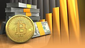 3d de pile d'argent Image stock