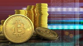3d de pile de pièces de monnaie Photo libre de droits