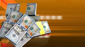 3d de pile des dollars Photos stock