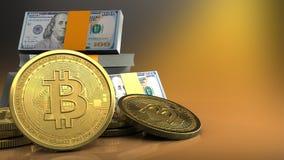 3d de pile des dollars Image stock