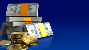 3d de pile des dollars Images stock