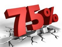 3d de remise de 75 pour cent illustration libre de droits