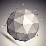 3D de stijl abstracte achtergrond van de netwerkschaduw, origami futuristische tem Royalty-vrije Stock Foto