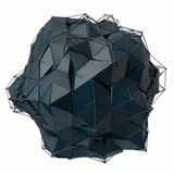 3d de structuur geeft computergrafiek CG terug Kristalillustratie van de reeks Meer in mijn portefeuille Royalty-vrije Stock Fotografie